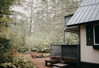 Cabins by Mt. Rainier