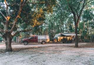 Bays are big enough for large caravans