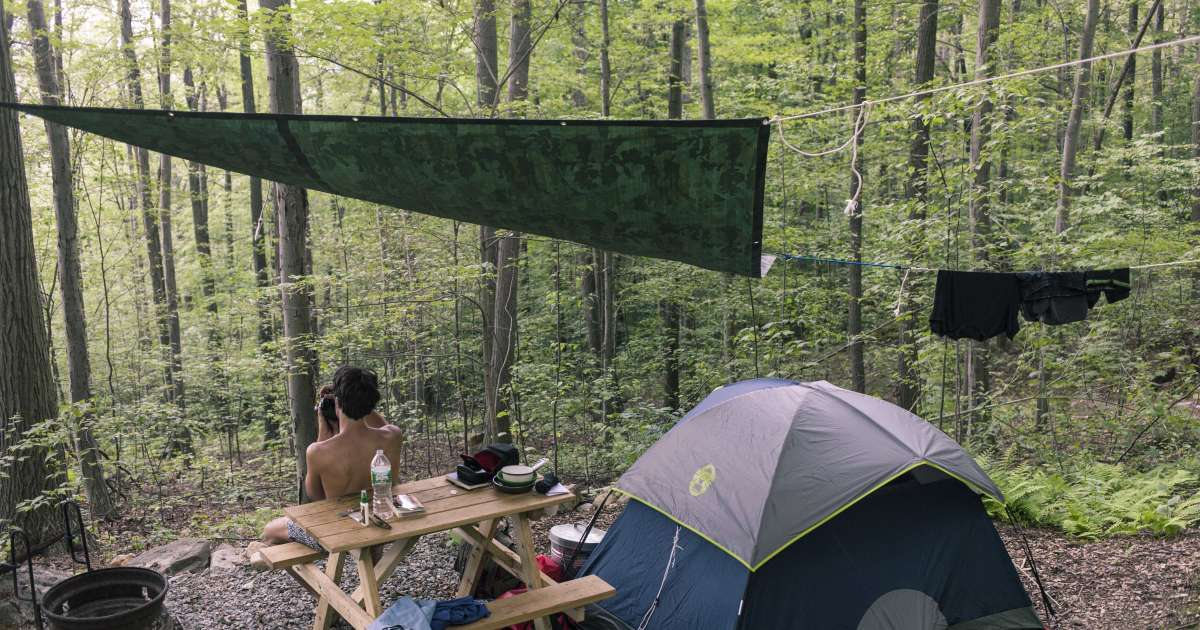 Hike In Tent Camping, Malouf's Mt. Campground, NY: 54 ...