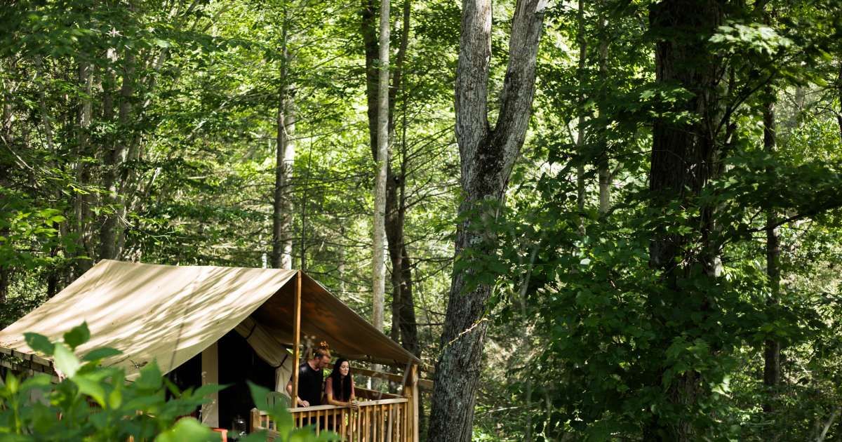Hillside Tent Cabin In Nc Mtns, Marshall Tent Cabins, NC ...