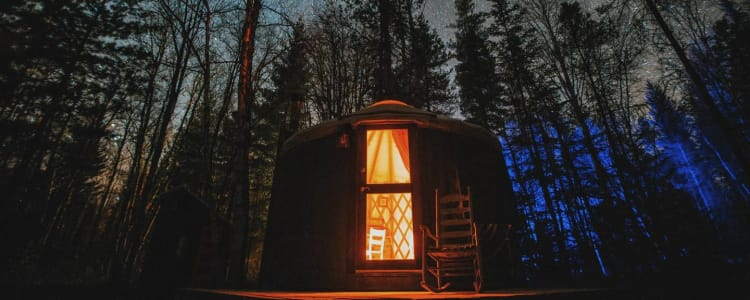 Small Yurt In The Woods Camping