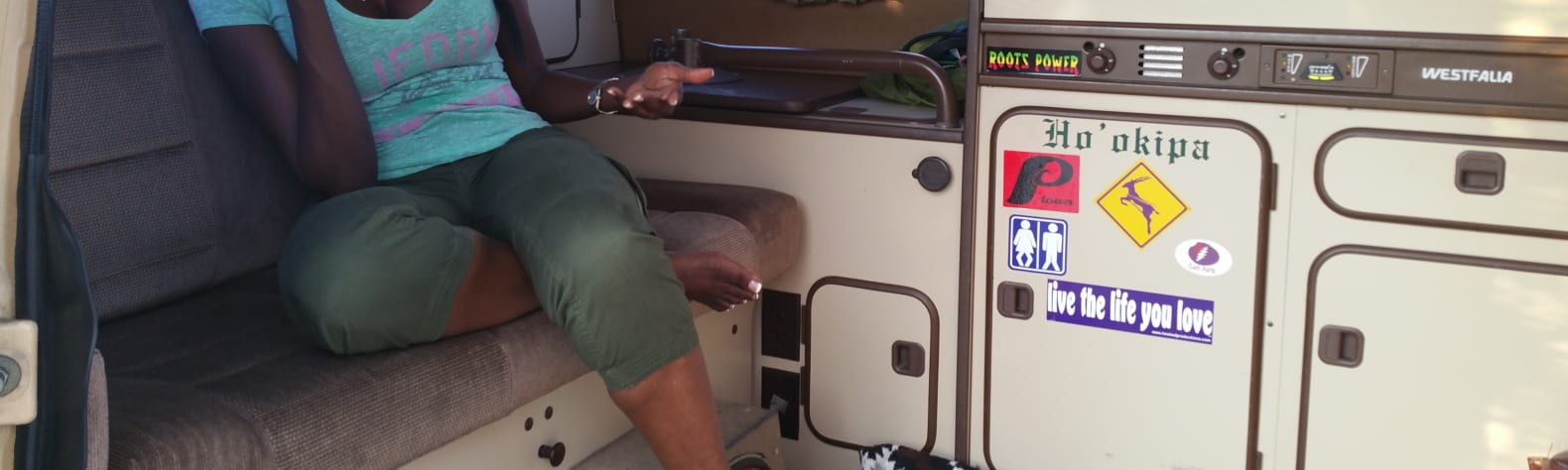 VW Camper getaway.