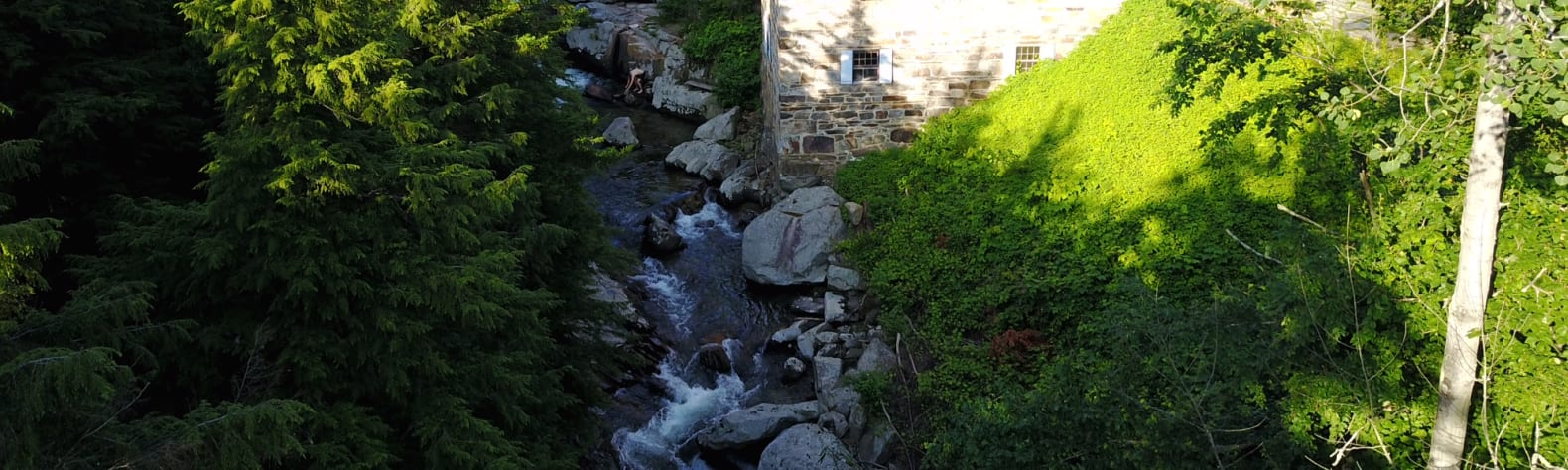 Historic Mill On a River Gorge