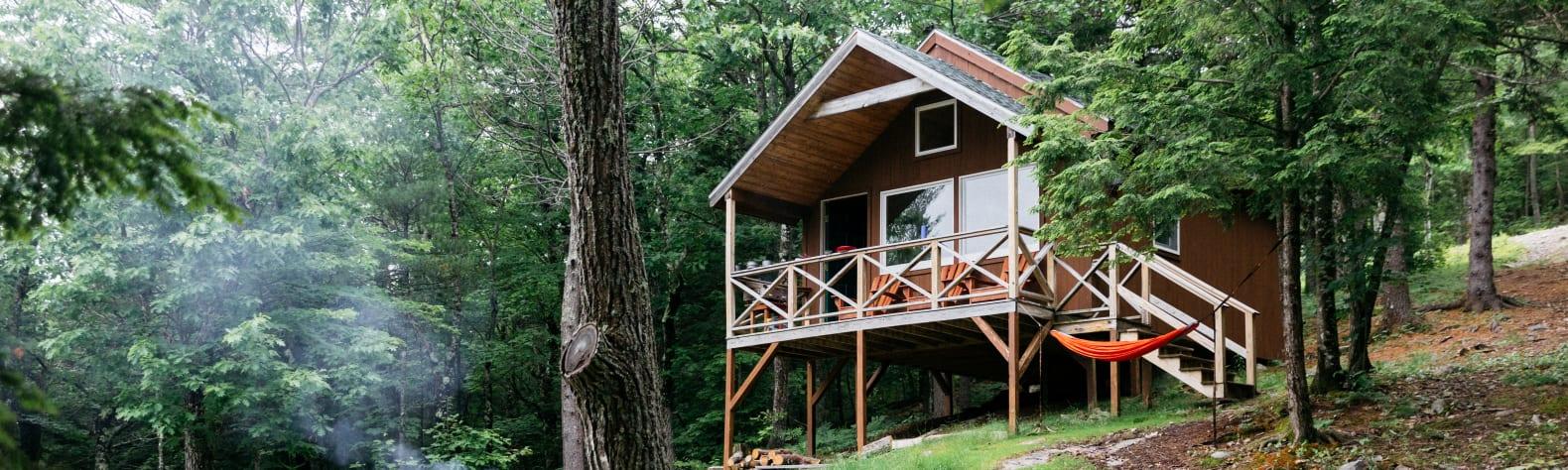 Tuckermans Cabin on Pleasant Mt