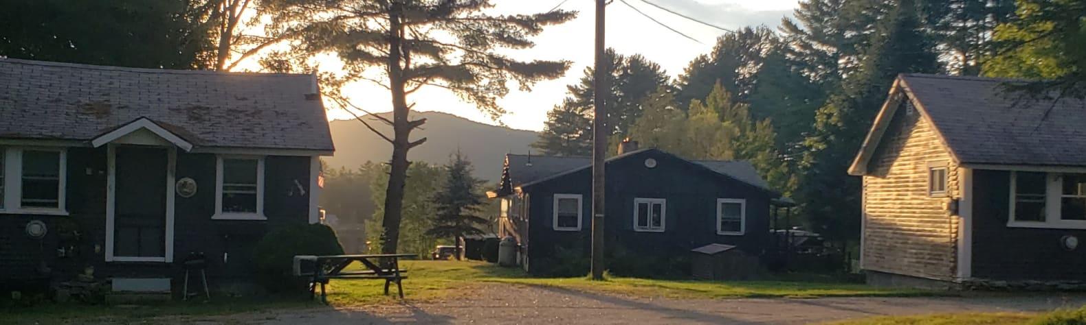 Magic cottages on Mirror Lake