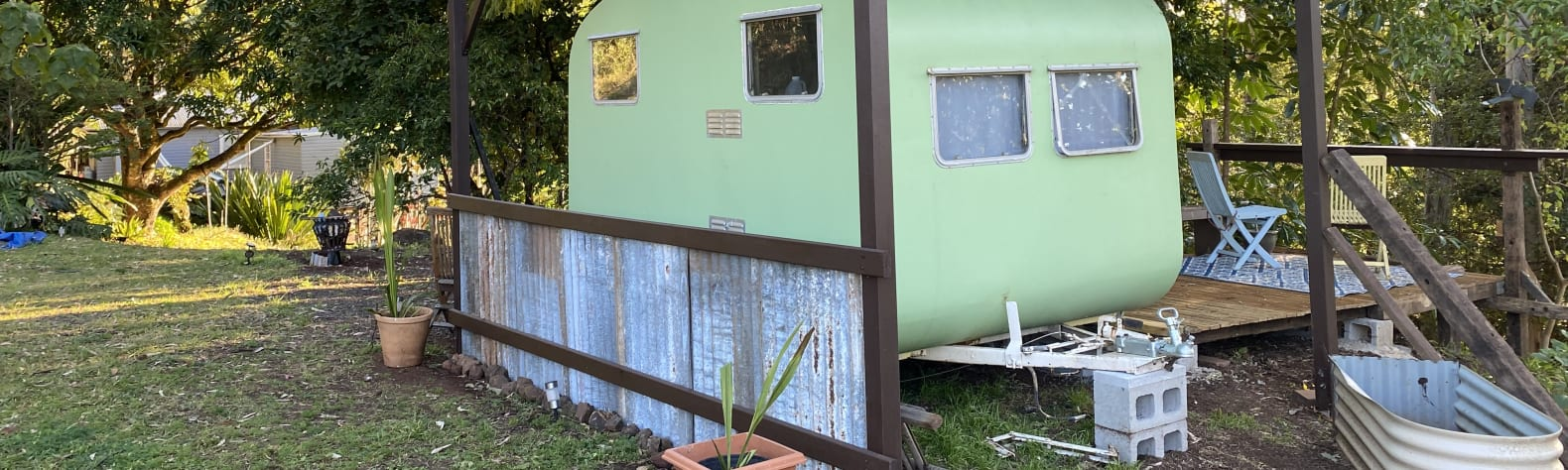 Retro Caravan in the Rainforest