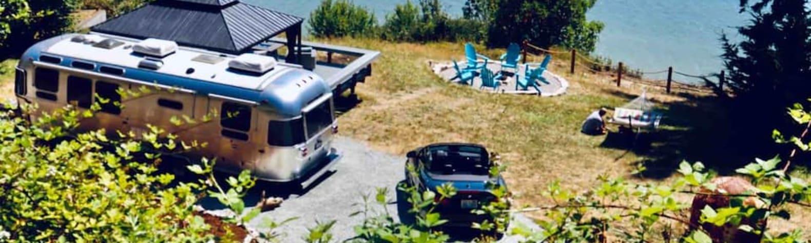 Seas the Moment Beach Airstream