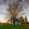 Farm House by the Pond
