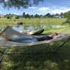 Lake side campsite