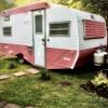1974 Pink & White Scotty Camper