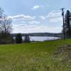Hilltop campsite overlooking lake