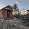 Rustic Tiny Wood Cabin Sky Portal