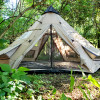 18' Tipi in the woods with pool