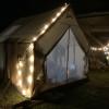 Creekside tent in the Smokies