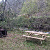 Creekside tent camping sites