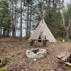 Tipi in the forest