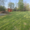 High dry level grass lawn