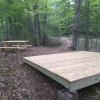 Sugar woods tent platform