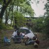 Rural property in yard or in woods.