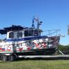 Luxury yacht on trailer