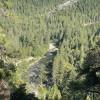 Rocky Mountain ridge, river view.