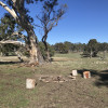 Swag/tent sites by campfire May-Aug