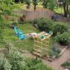 Private backyard oasis