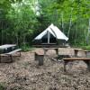 """""""Peachy Keen"""" Campsite on the Farm"""