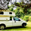 RV/Van camping by Tyler State Park