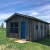 River trails and small farm cabin