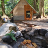Cabin, tent and RV camping
