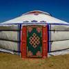 Mongolian Yurt Beside Lee River