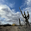 Sonoran Desert off-grid campsite