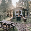 100% Off Grid Forest Glamping Cabin