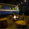 Retro Florida Glamping Manatee Bus