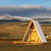 Comfy A-frame on off-grid ranch