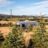 Airstream on a hazelnut farm