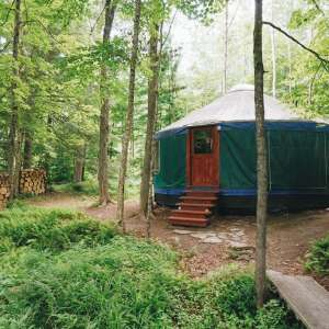 Green gem yurt