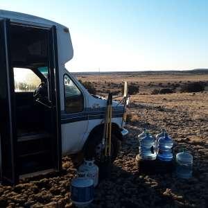 Desolate Desert Mountain Lake