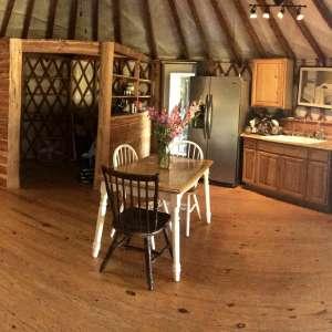 the Yurt at Creekbend Farm