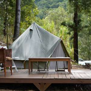 A Tent in The Forest.