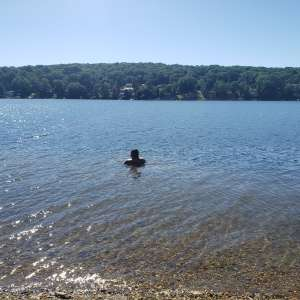 Lake community layover
