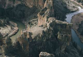 Smith Rock and the Crooked River from the Top of Misery Ridge Trail
