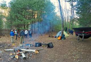 The state parks are great, but paddle Pine Creek and there are some great primitive campsites!