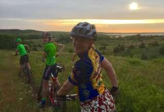 Fun mountain bike trails and beautiful skies