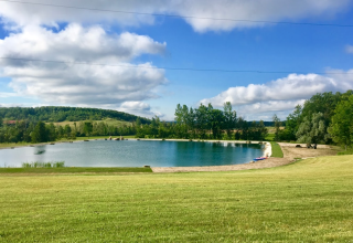 Rockhill Music Amphitheatre, overlooking the swimming Oasis