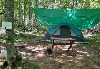 Fully equipped tents for rent, all you need to bring is your cooler of food!