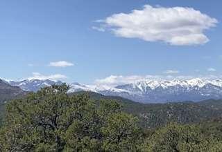 Views of the Sangre de Cristo Mountain Range from the campsite