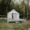 La Lu Farm Goat Yurt