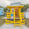 Yellow Lifeguard Stand